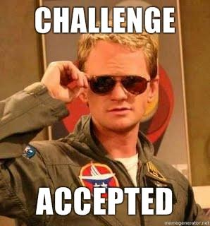 Challenge accepted barney 5619